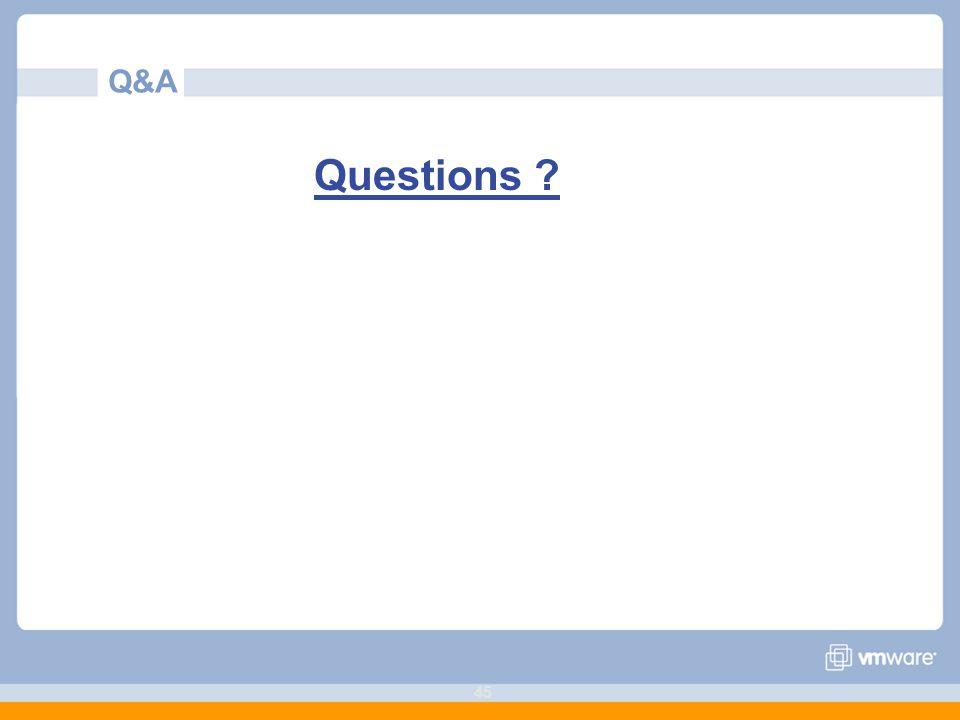 45 Q&A Questions ?