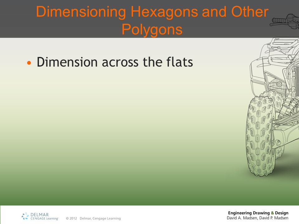 Dimensioning Hexagons and Other Polygons Dimension across the flats