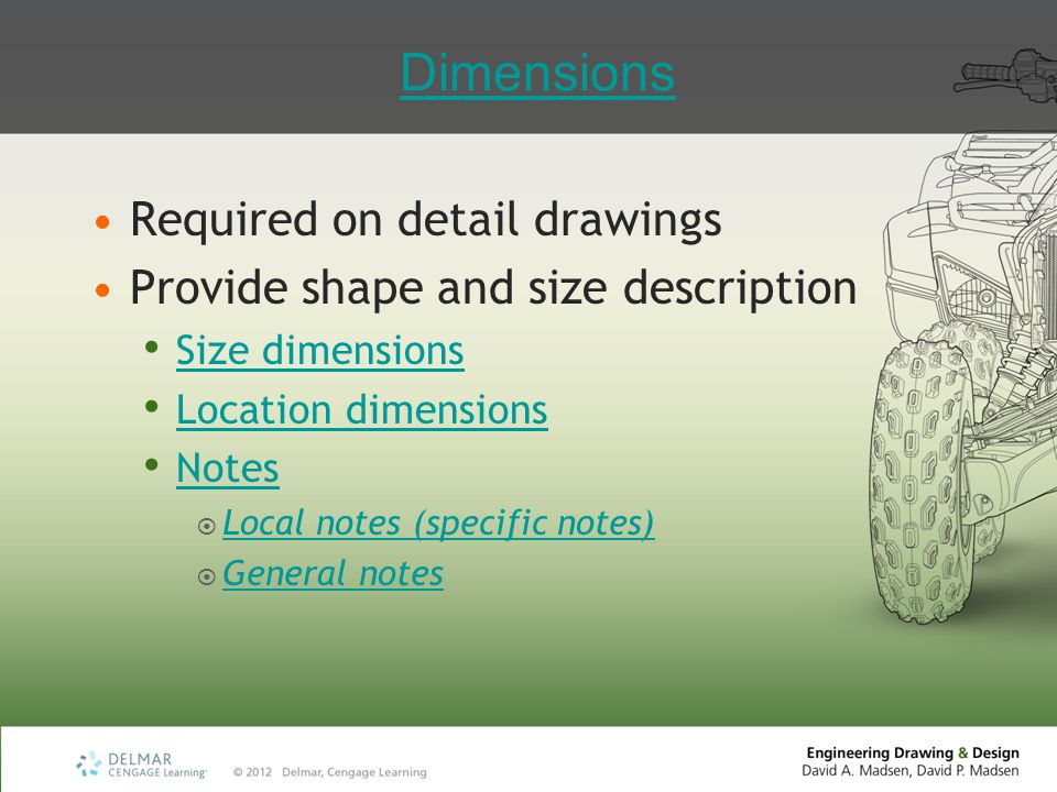 Inch Dimensions Decimal inches (IN) United States (U.S.) customary unit of measure General note: UNLESS OTHERWISE SPECIFIED, ALL DIMENSIONS ARE IN INCHES Follow any millimeter dimensions with mm