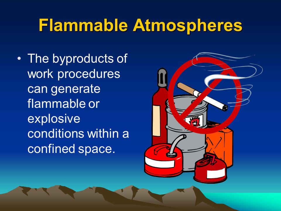 Oxygen Enriched Atmospheres Oxygen level above 23.5%.