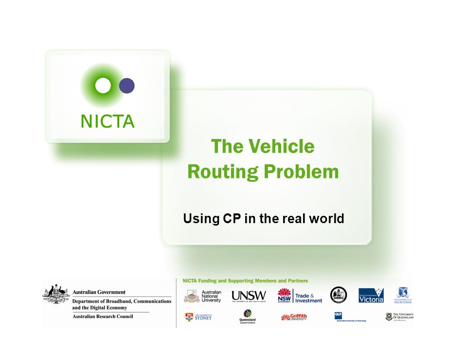 The Vehicle Routing Problem Using CP in the real world