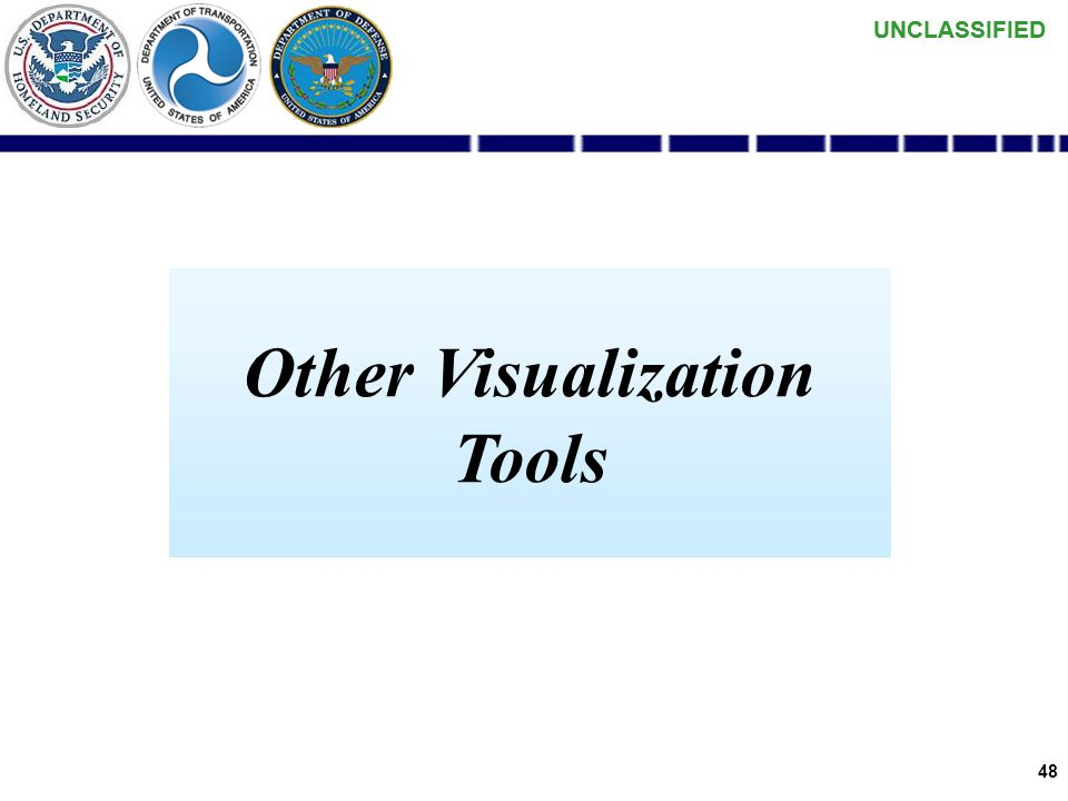 UNCLASSIFIED 47 High-Level Pilot Architecture COI HSIN maintains their own Identity Store – acting as an Enterprise COI without any reference to DOD / NCES MDA DS COI – Data Producers NAIS Aggregation NAIS AMRS ONI - AMRS Aggregation Navy Organic AIS Aggregation Infrastructure: NCES SOA Foundation DHS Consumers Data Sharing SOA Foundation HSIN Portal HSIN Identity Store (Portal Authentication) Defense Online Portal NCES Service Discovery NCES Security Service Navy Afloat Volpe DHS DOD DOD Consumers Content Discovery DHS user logs into HSIN portal NCES SS authenticates HSIN portal & authorizes DHS user Volpe Aggregation