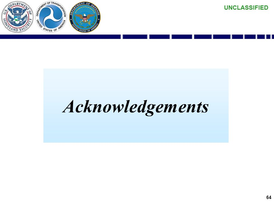 UNCLASSIFIED 63 Data Consumer (UDOP) Development Metrics