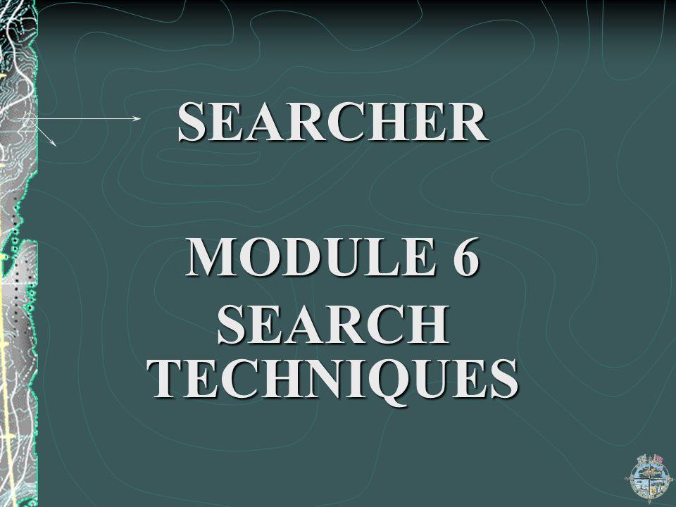 SEARCHER MODULE 6 SEARCH TECHNIQUES