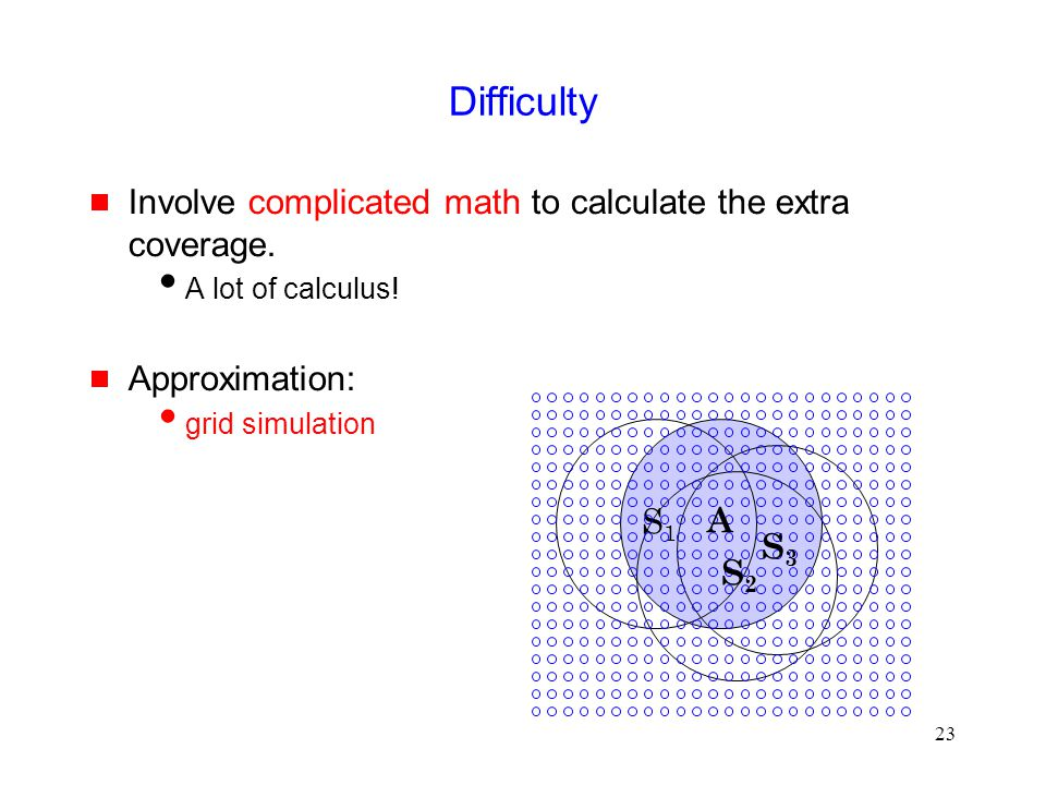 23 Difficulty  Involve complicated math to calculate the extra coverage.