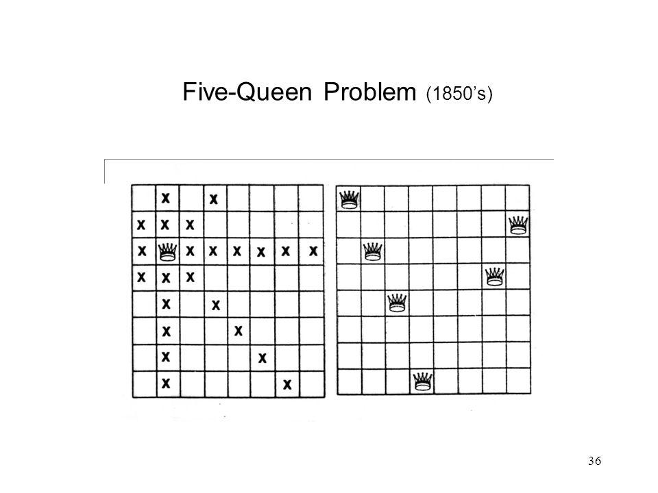 36 Five-Queen Problem (1850's)