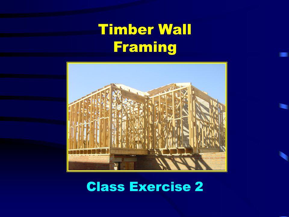 Timber Wall Framing Class Exercise 2