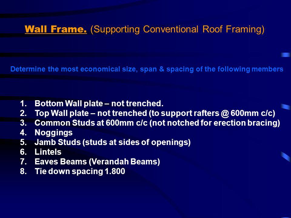 MemberRule / Table SizeComments Noggings R Spacing Refer page 62, rule 6.2.1.5 (Building Practice) Noggings.