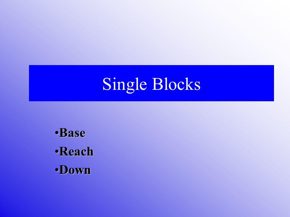 Single Blocks BaseBase ReachReach DownDown