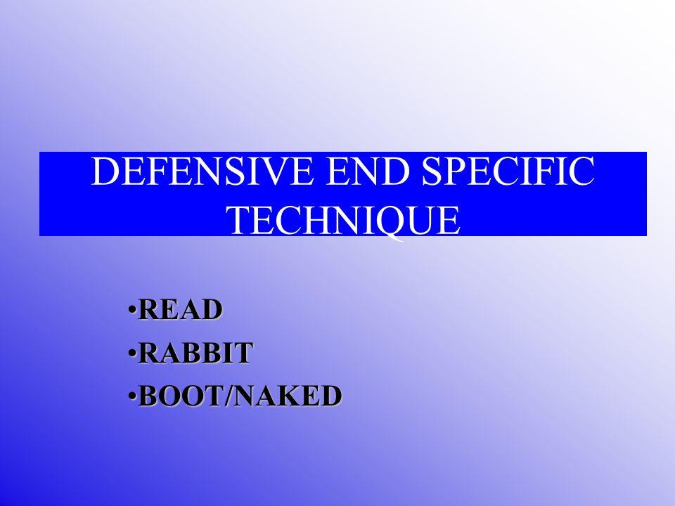 DEFENSIVE END SPECIFIC TECHNIQUE READREAD RABBITRABBIT BOOT/NAKEDBOOT/NAKED