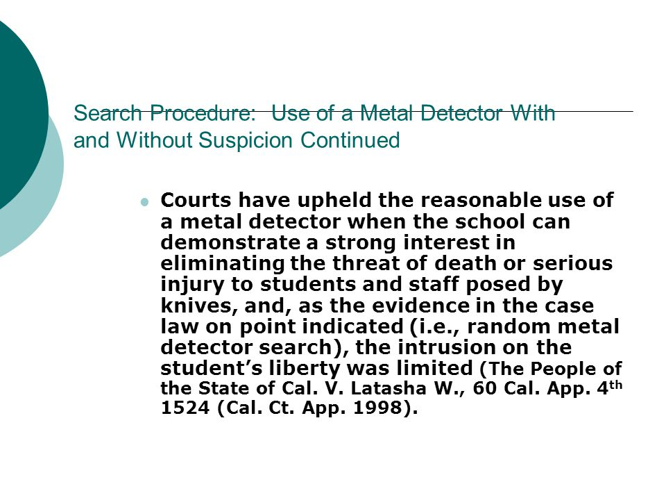 Use of Metal Detectors in Society  Airports  Court Buildings  Law Enforcement/Security