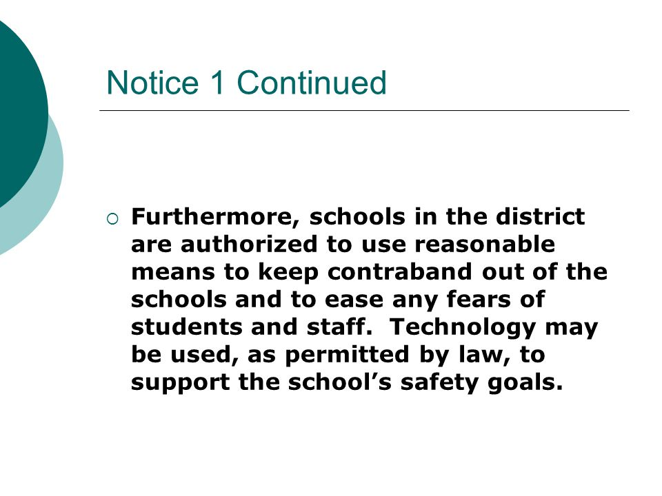 NOTICE #1  Parent Notice in 2004-05 Guide for Parents and Students, p.