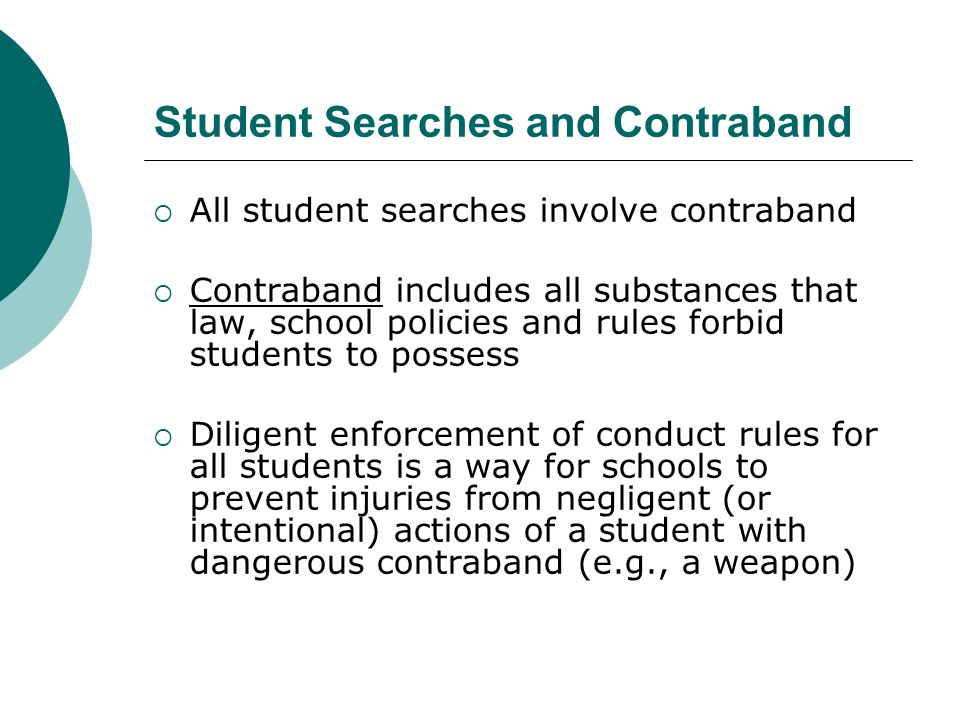 Examples of How Arbitrary Discretion in a Random (or Mass) Search Can Be Eliminated A Random schedule for metal detector scanning can be implemented by: Scanning every student Scanning every 4 th or 10 th, or 20 th student In all cases, an individualized search rising from the metal detector activation detected during a mass or random search would be conducted out of view of other students or the public.