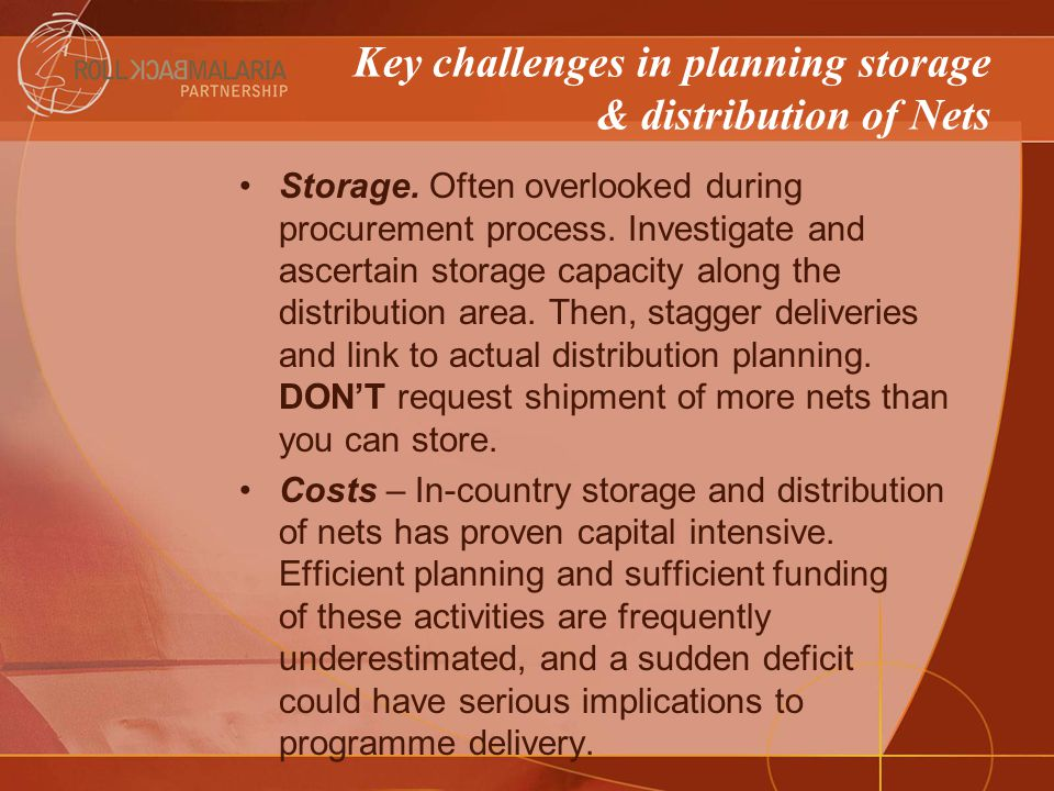 Storage. Often overlooked during procurement process.