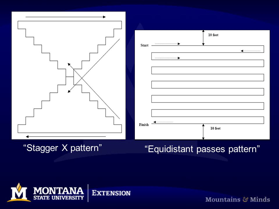 Stagger X pattern Equidistant passes pattern