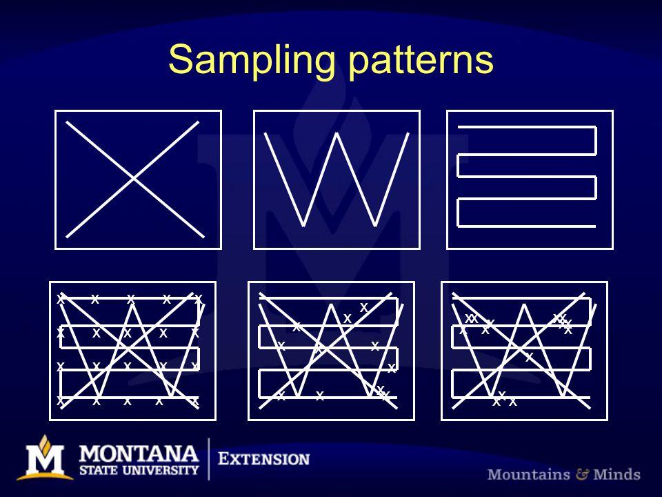 Sampling patterns x x x x x x x x x x x x x xx xxx x x x x x x x x x x x x