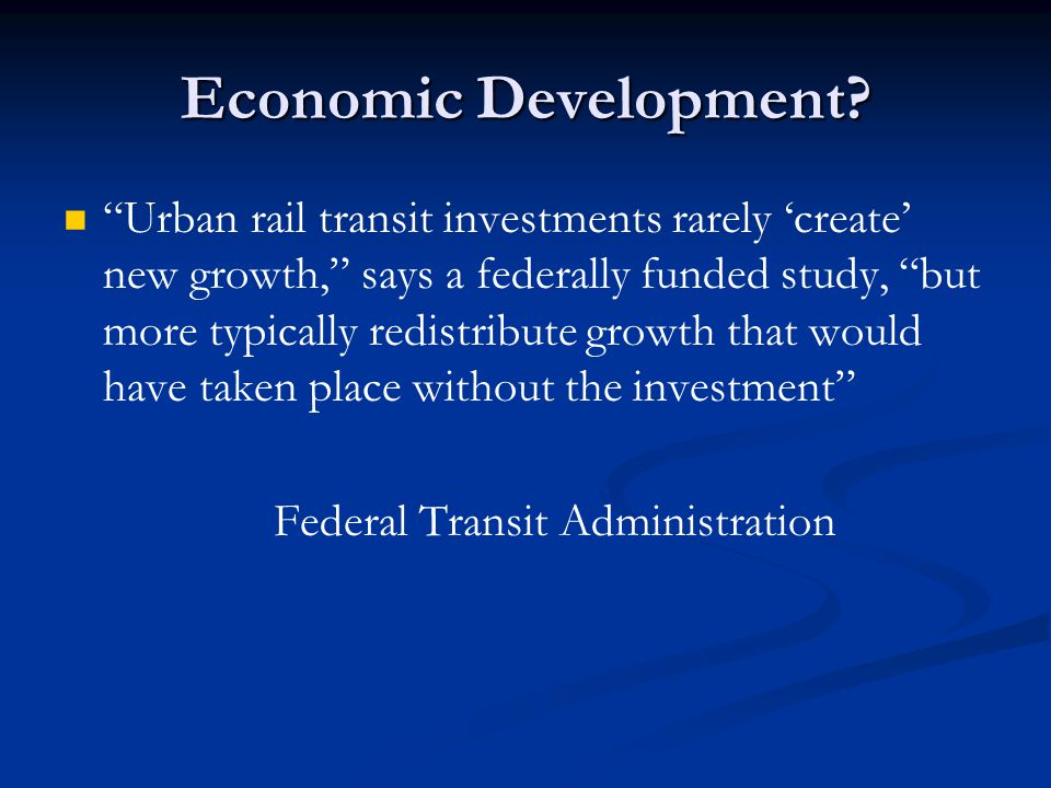 Economic Development.
