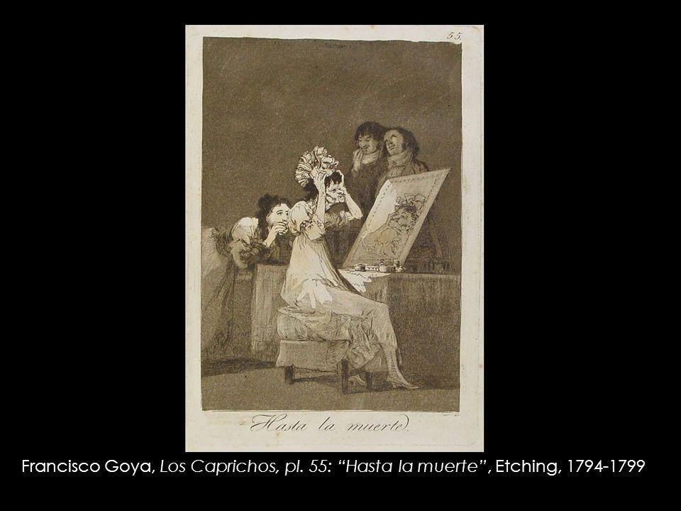 Francisco Goya, Los Caprichos, pl. 55: Hasta la muerte , Etching, 1794-1799