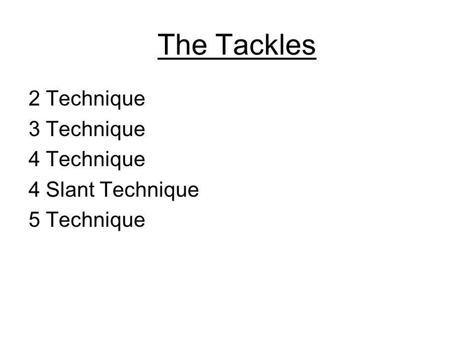 The Tackles 2 Technique 3 Technique 4 Technique 4 Slant Technique 5 Technique
