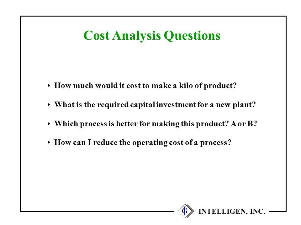 Equipment Capacity Utilization INTELLIGEN, INC.
