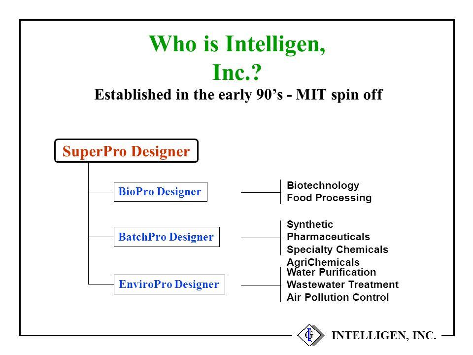 Equipment Throughput Bottlenecks INTELLIGEN, INC.