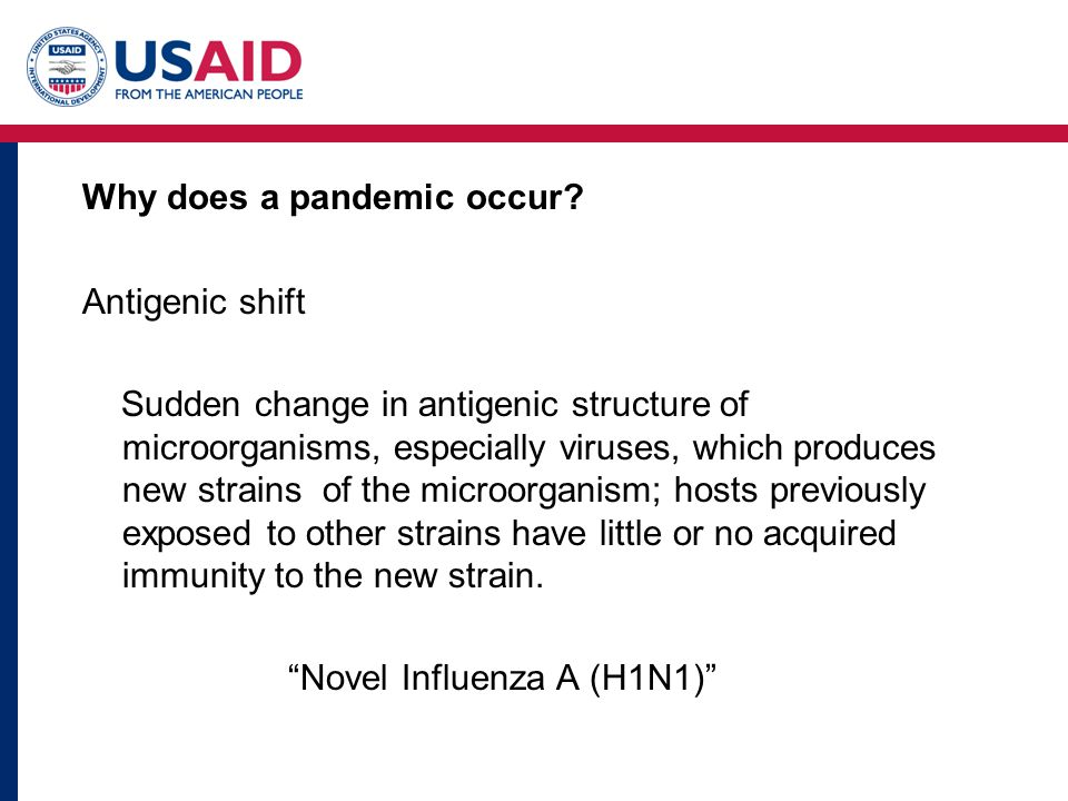 Why does a pandemic occur.