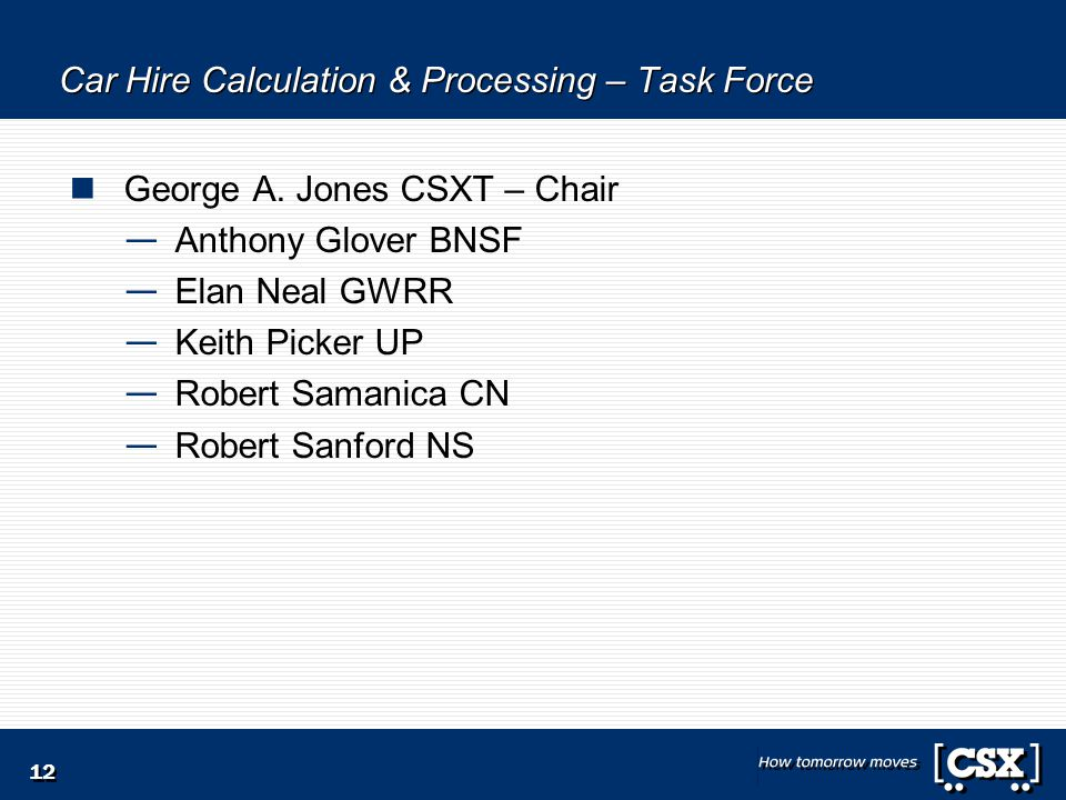 12 Car Hire Calculation & Processing – Task Force George A.