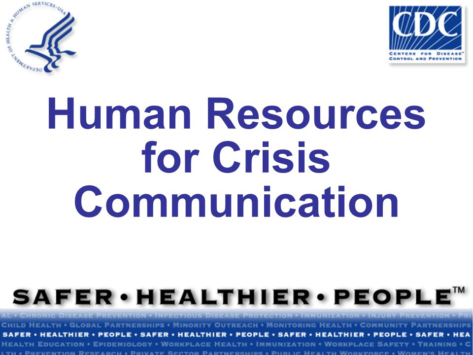 Human Resources for Crisis Communication