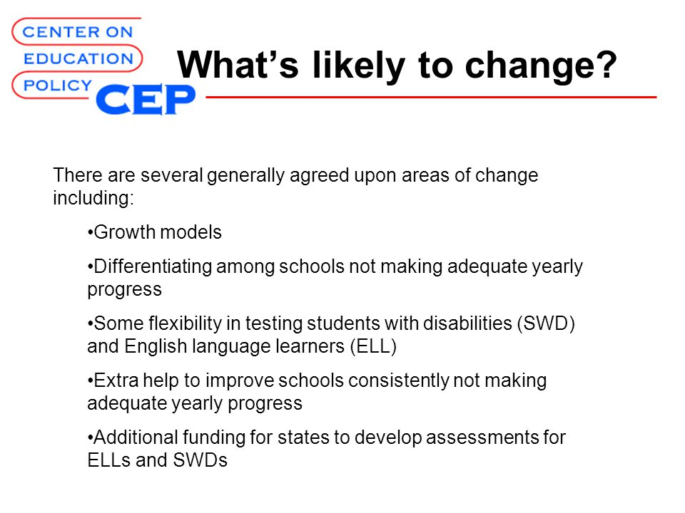 What's likely to change.