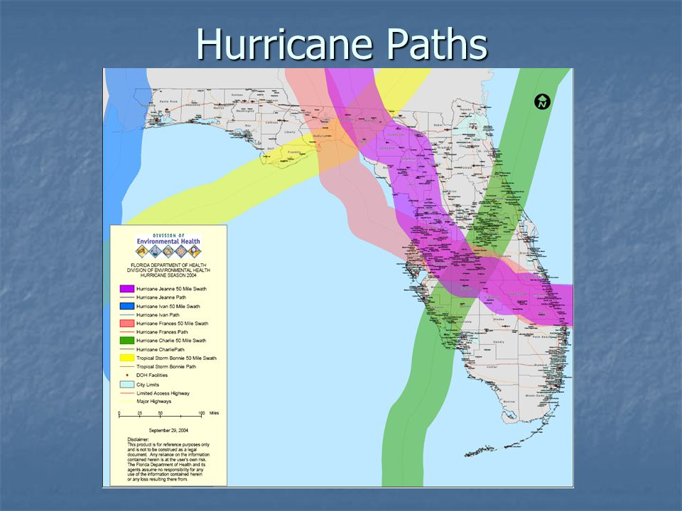 Hurricane Paths