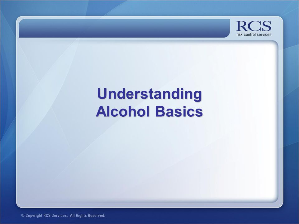 Understanding Alcohol Basics