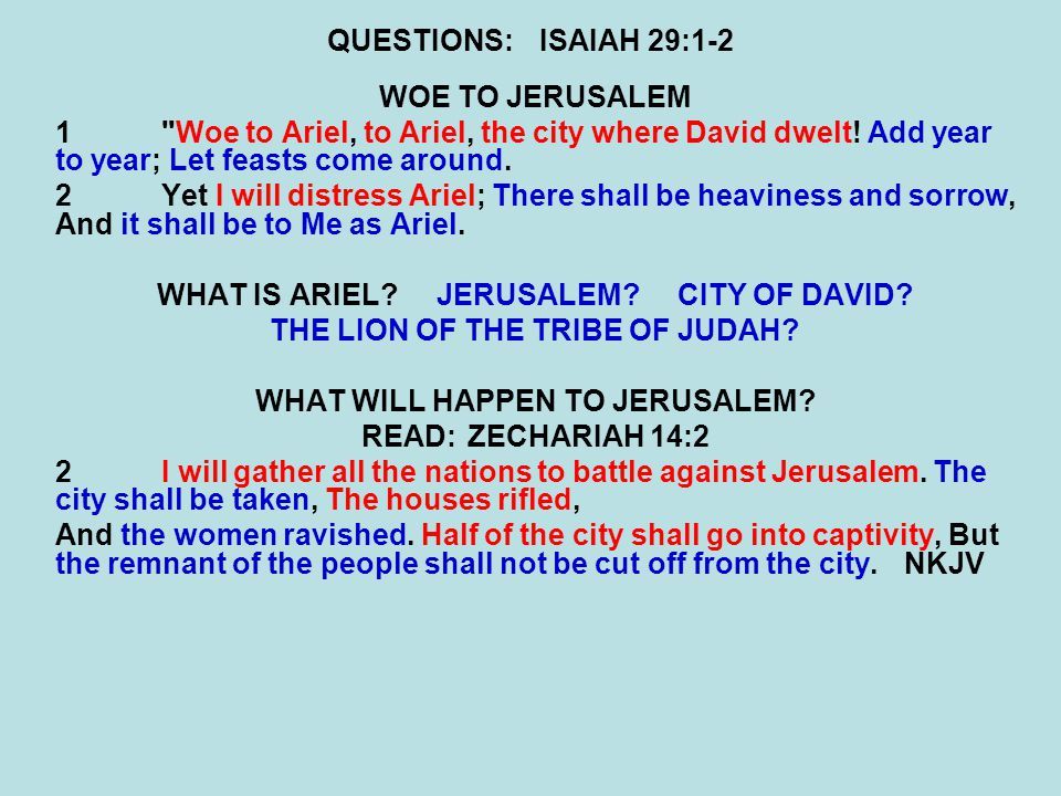 QUESTIONS:ISAIAH 29:11-12 11 The whole vision has become to you like the words of a book that is sealed, which men deliver to one who is literate, saying, Read this, please. And he says, I cannot, for it is sealed. 12Then the book is delivered to one who is illiterate, saying, Read this, please. And he says, I am not literate. WHAT DID THE LORD TELL JOSHUA TO DO WITH THE BOOK OF THE LAW.