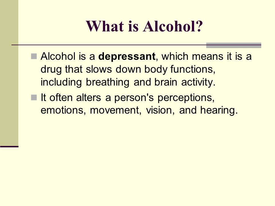 How Does It Affect the Body.