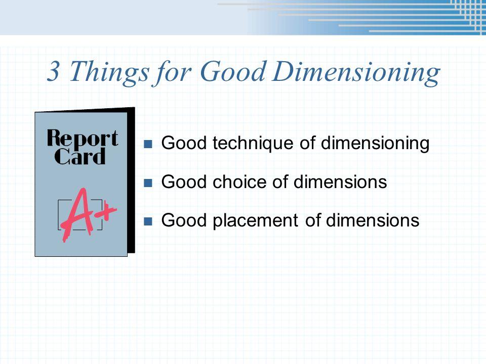 Dimensioning Prisms