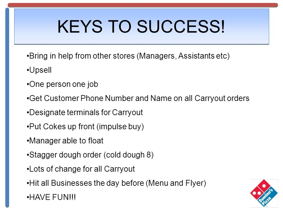 KEYS TO SUCCESS.
