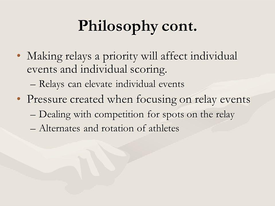 Philosophy cont.