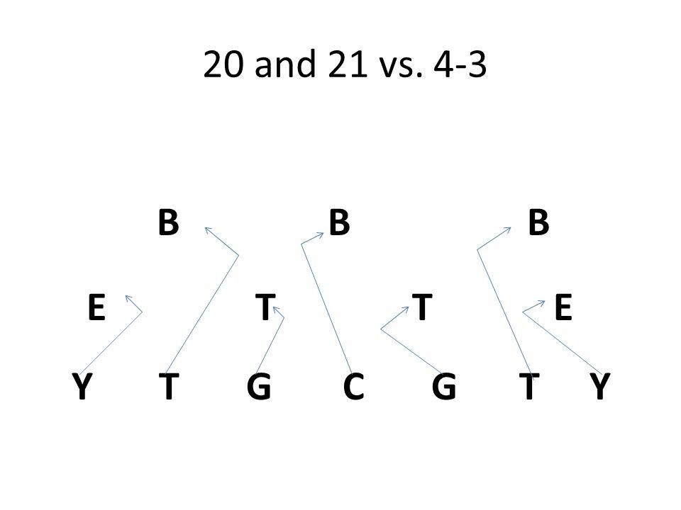 20 and 21 vs. 4-3 Y T G C G T Y E T T E B B B