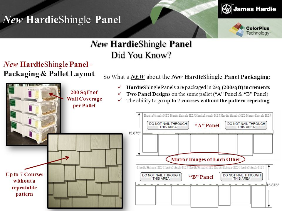 Text goes here Agenda New HardieShingle Panel Did You Know.