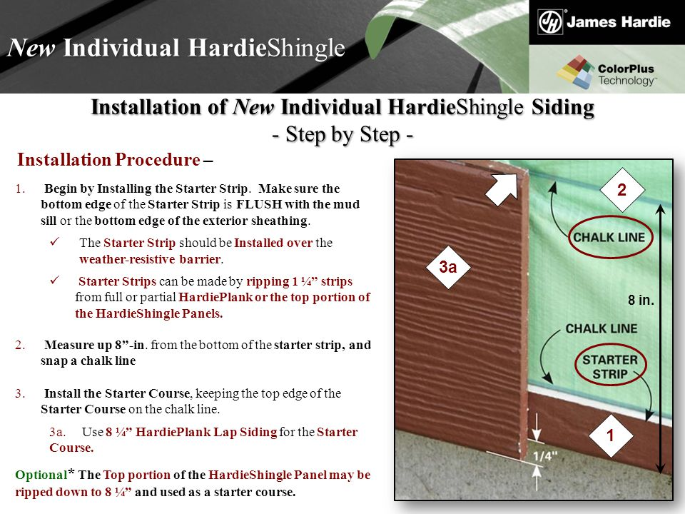 Text goes here Agenda New Individual HardieShingle Installation of New Individual HardieShingle Siding - Step by Step - 3.