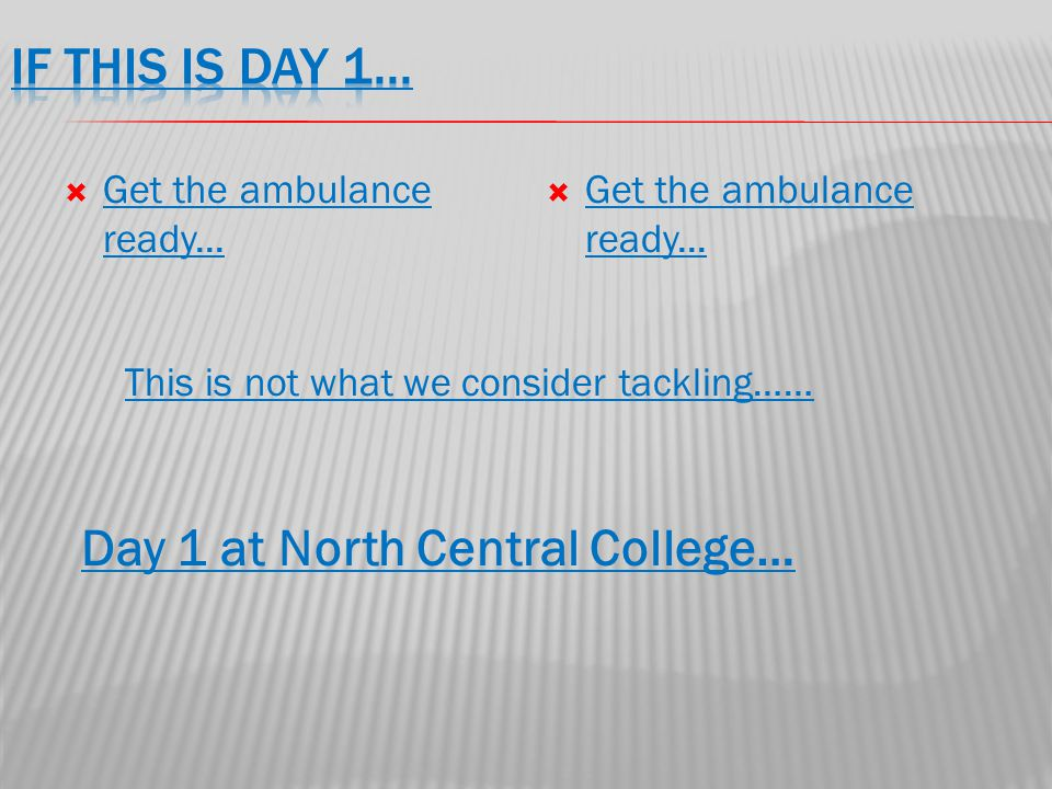  Get the ambulance ready... Get the ambulance ready...