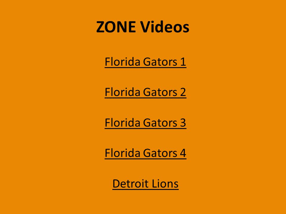 ZONE Videos Florida Gators 1 Florida Gators 2 Florida Gators 3 Florida Gators 4 Detroit Lions