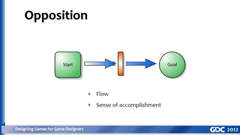 Opposition FlowFlow Sense of accomplishmentSense of accomplishment