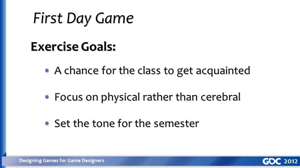 Exercise Goals: Asymmetric game balanceAsymmetric game balance Tuning for dramaTuning for drama