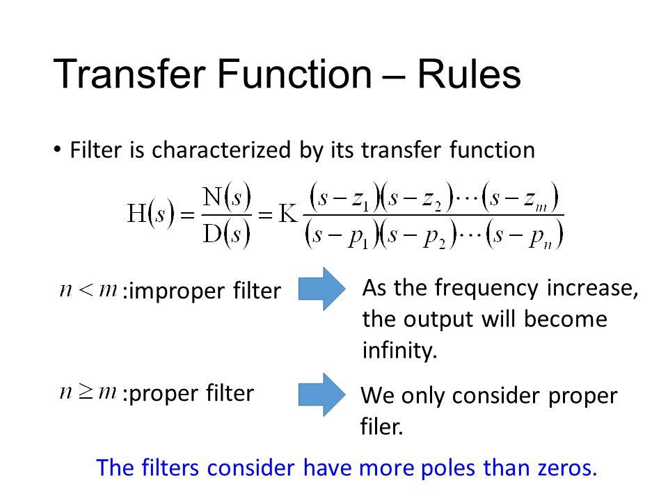 Second-order Filter Case 1: Case 2: Case 3: Must having two poles No zeros One zeros Two zeros Second order 2 poles 0, 1 or 2 zeros