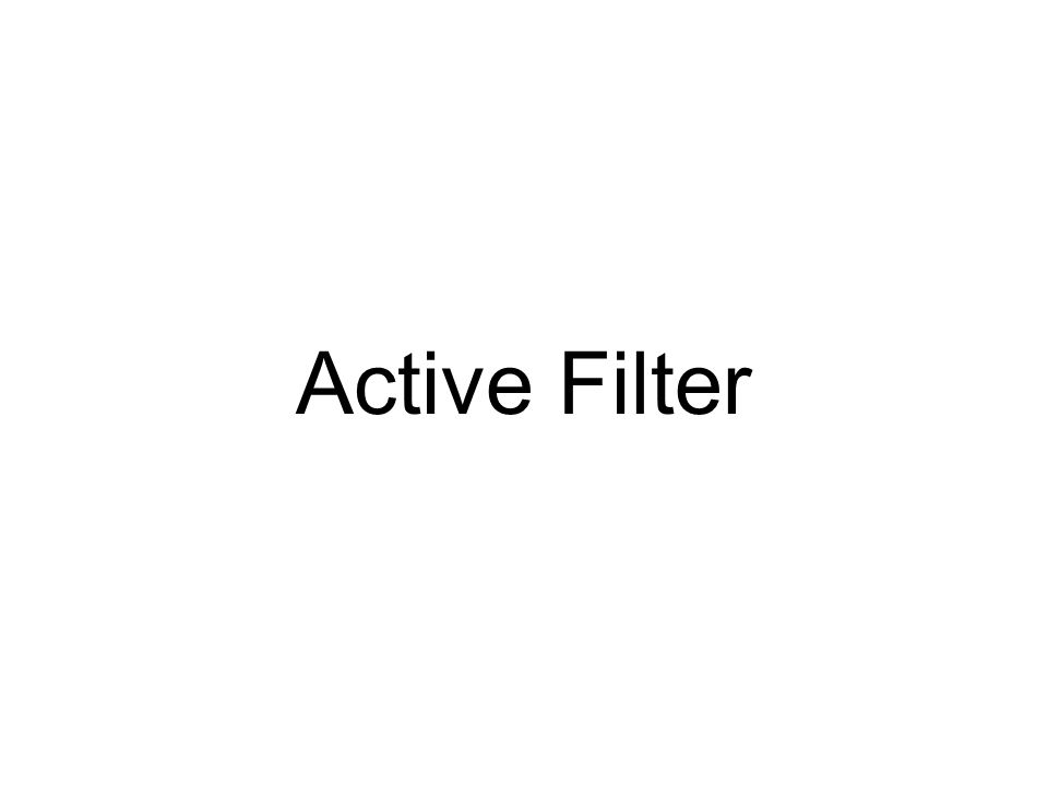 Second-order RLC Filters Notch Filter C D