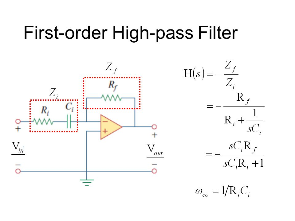 First-order Low-pass Filter