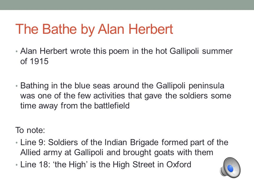 THE BATHE Alan Patrick Herbert