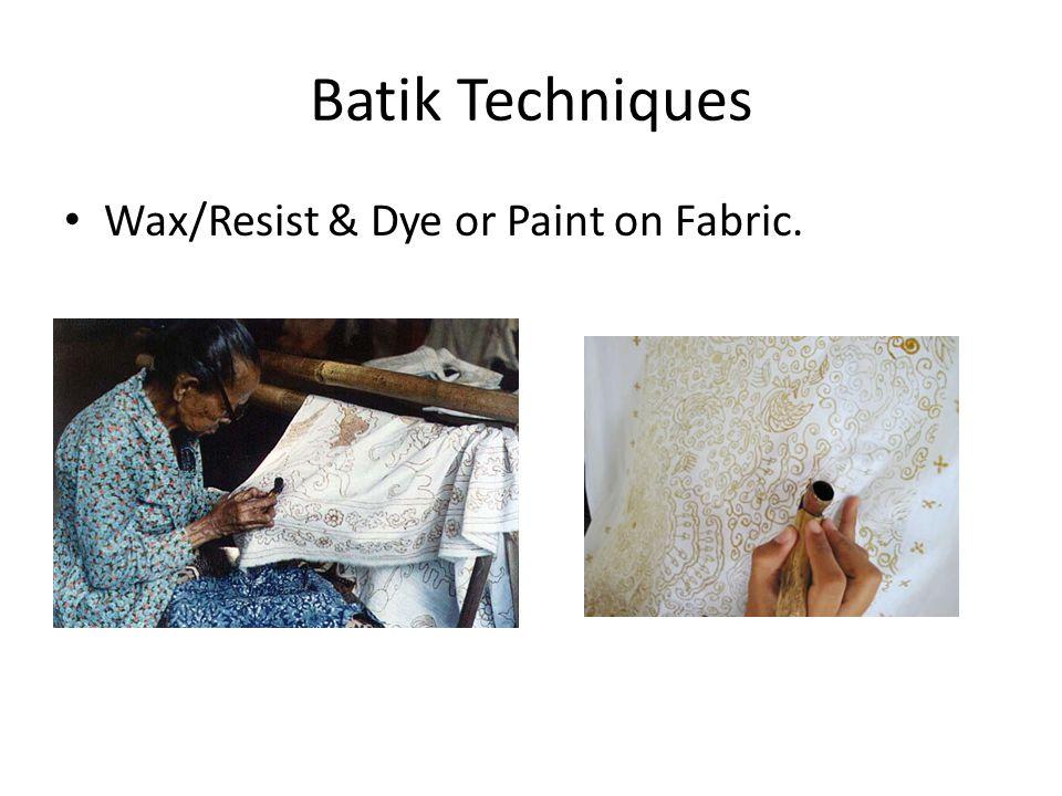 Wax Batik Examples: