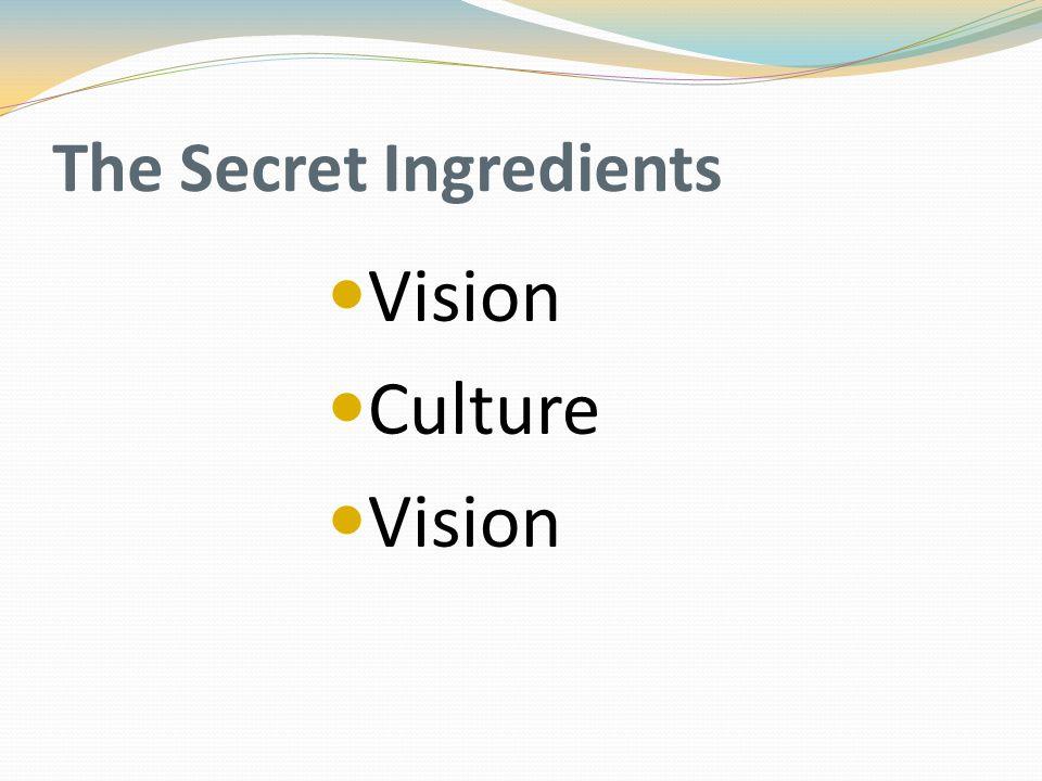 The Secret Ingredients Vision Culture Vision