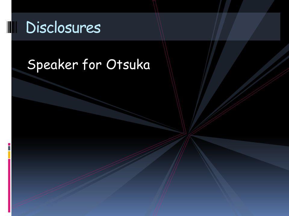 Speaker for Otsuka Disclosures